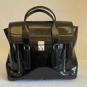 Large leather Pashli bag black retail $1400